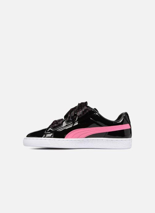 Sneakers Puma Basket Heart Stars Zwart voorkant