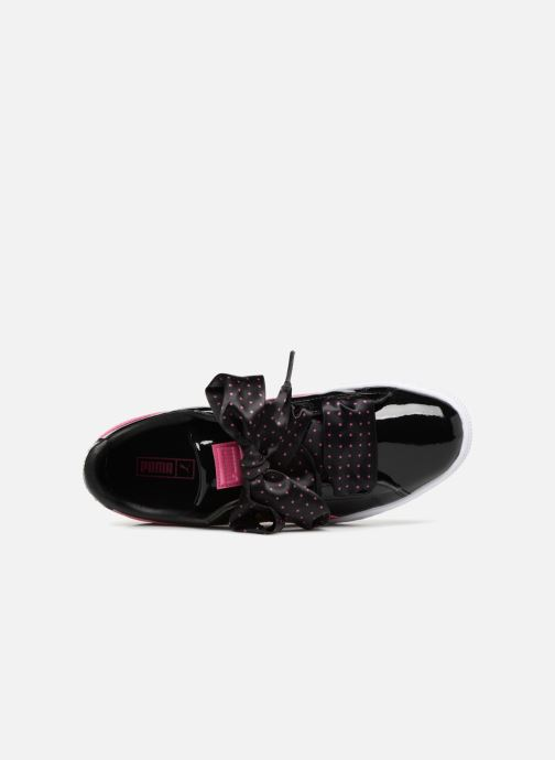 Sneakers Puma Basket Heart Stars Zwart links