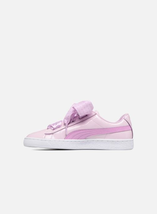 Trainers Puma Basket Heart Stars Pink front view
