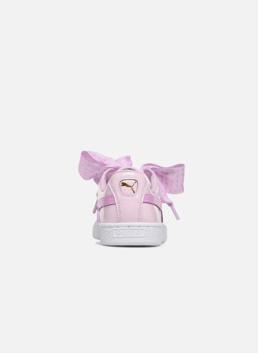 Trainers Puma Basket Heart Stars Pink view from the right
