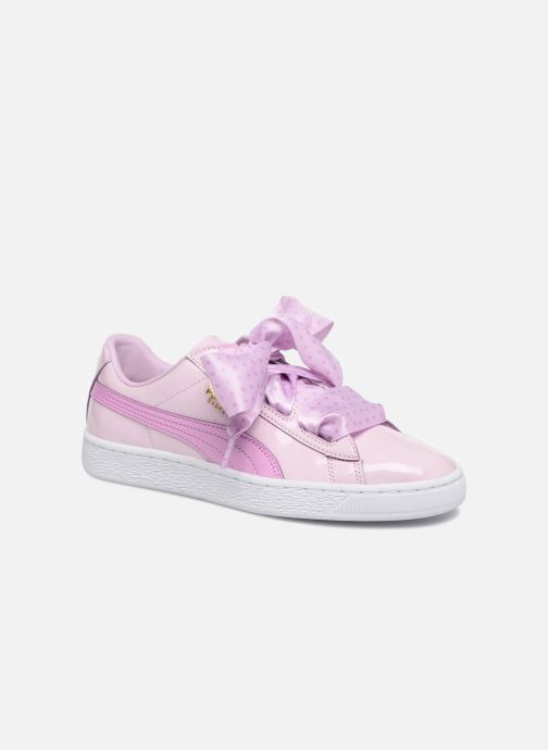 Trainers Puma Basket Heart Stars Pink detailed view/ Pair view