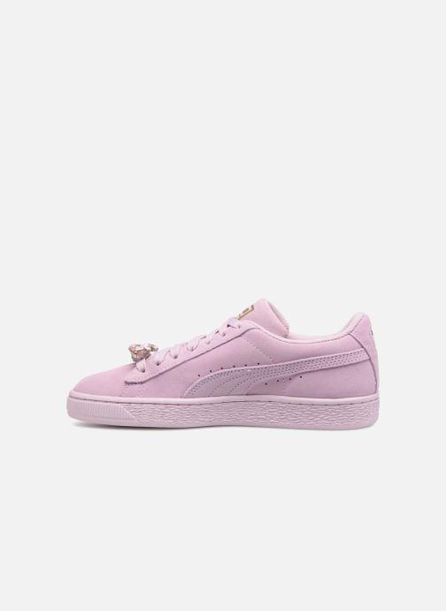 Sneaker Puma Jr Suede Jewel rosa ansicht von vorne