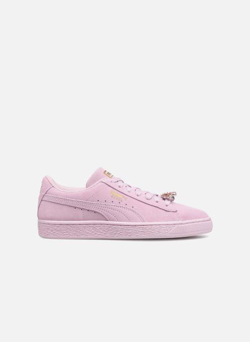 Sneaker Puma Jr Suede Jewel rosa ansicht von hinten