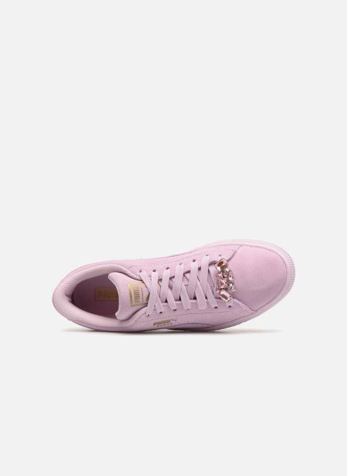 Sneaker Puma Jr Suede Jewel rosa ansicht von links