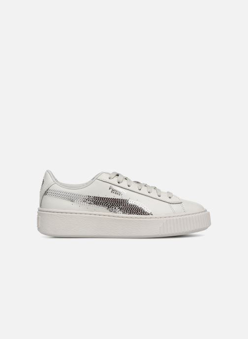 Trainers Puma Basket Platform Bling Grey back view
