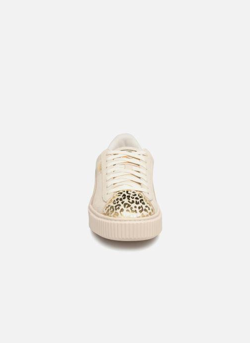 Baskets Puma Suede Platform Ath Lux Blanc vue portées chaussures