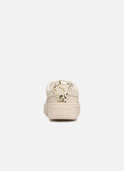 Trainers Puma Suede Platform Ath Lux White view from the right