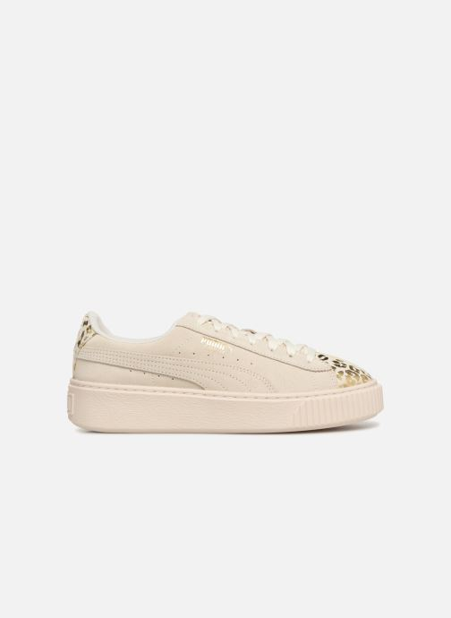 Trainers Puma Suede Platform Ath Lux White back view