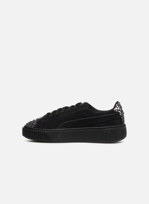 Sneakers Puma Suede Platform Ath Lux Nero immagine frontale