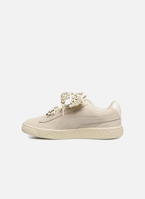 Sneakers Puma Suede Heart Ath Lux J Bianco immagine frontale