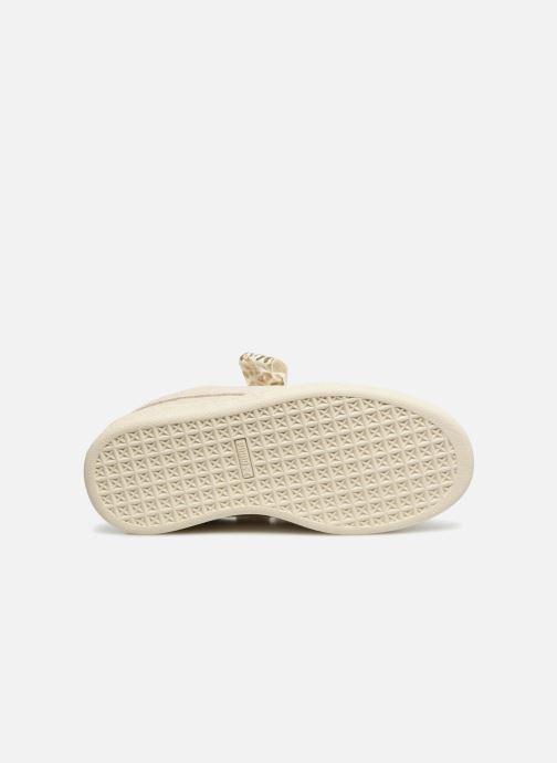 Baskets Puma Suede Heart Ath Lux J Blanc vue haut