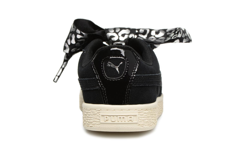 Baskets Puma Suede Heart Ath Lux J Noir vue droite