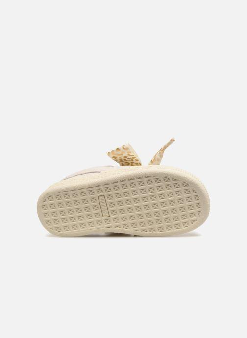 Baskets Puma Inf Suede Heart Ath Lux Blanc vue haut