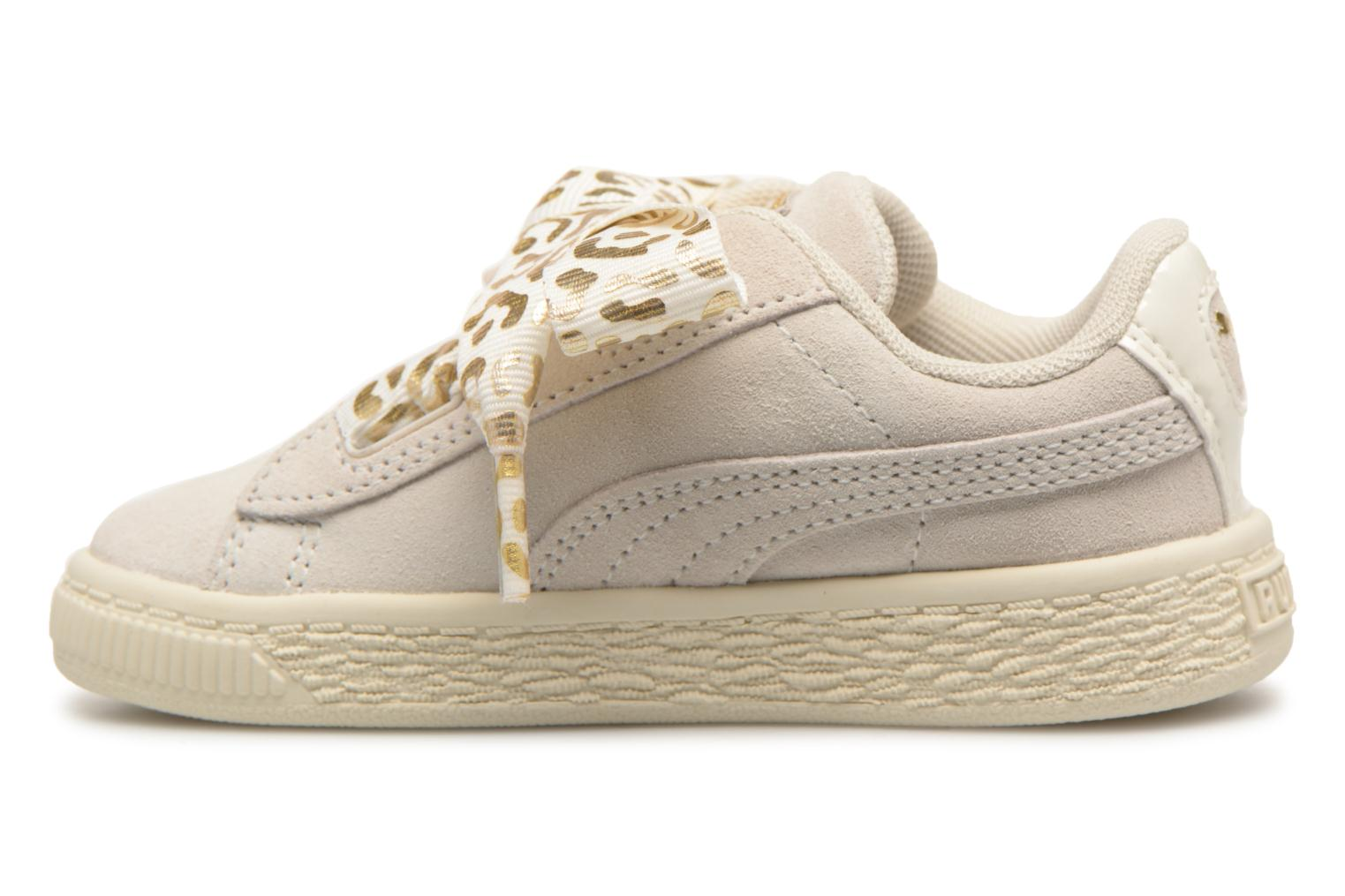 Baskets Puma Inf Suede Heart Ath Lux Blanc vue face