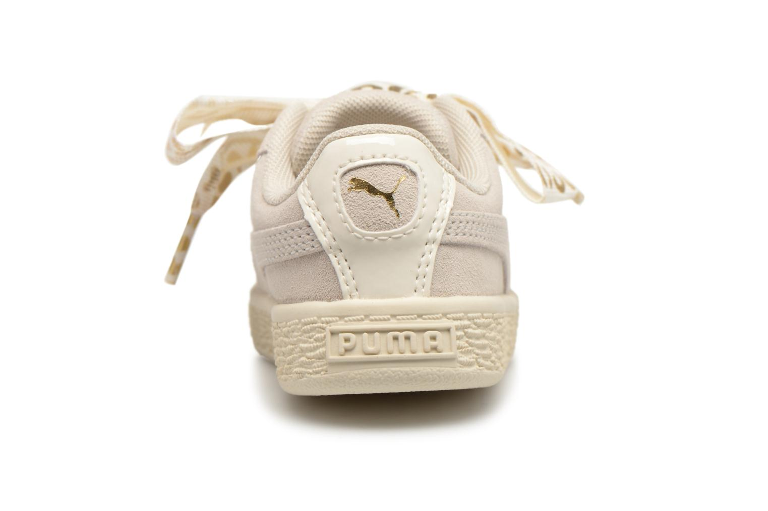 Baskets Puma Inf Suede Heart Ath Lux Blanc vue droite