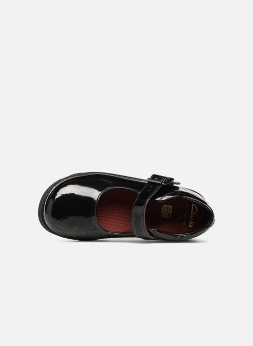 Ballet pumps Clarks Crown Honor Black view from the left