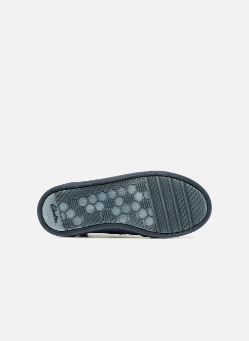 Baskets Clarks City Oasis Bleu vue haut
