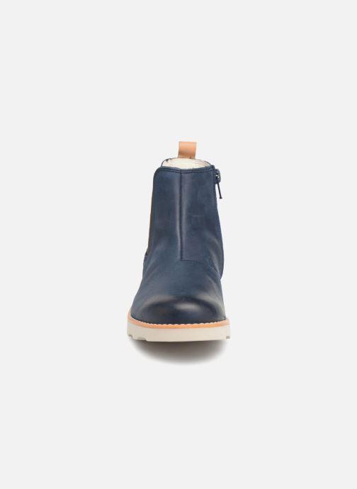 Bottines et boots Clarks Crown Halo Bleu vue portées chaussures