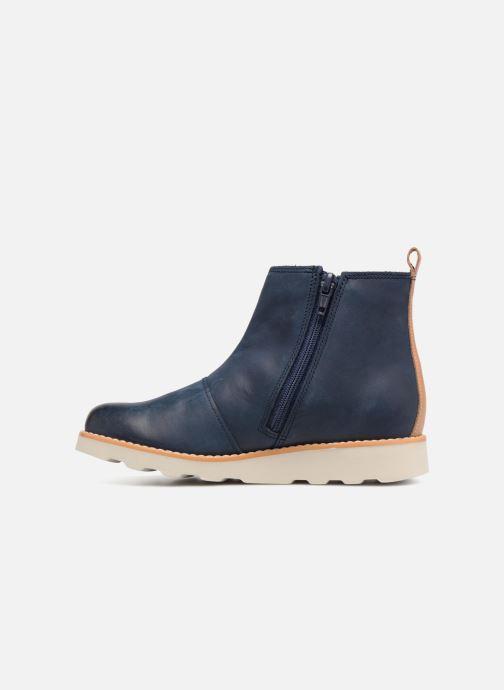 Bottines et boots Clarks Crown Halo Bleu vue face