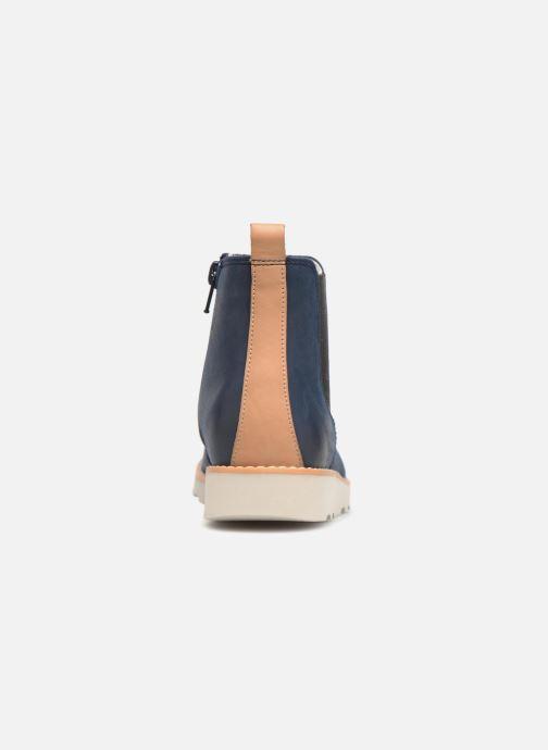 Bottines et boots Clarks Crown Halo Bleu vue droite