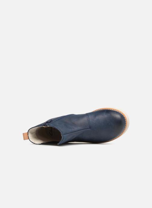 Bottines et boots Clarks Crown Halo Bleu vue gauche