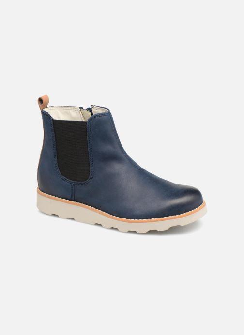 Bottines et boots Clarks Crown Halo Bleu vue détail/paire