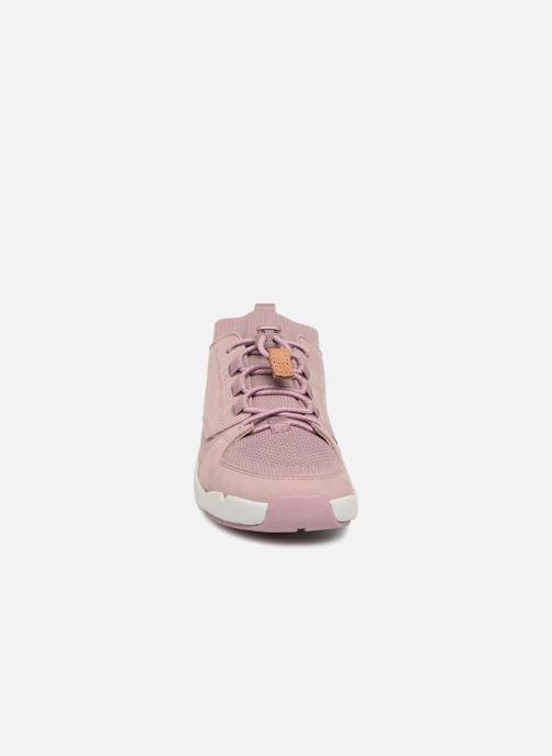 Baskets Clarks Tri Lunar Rose vue portées chaussures