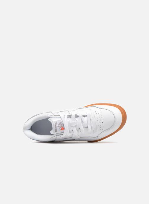 Baskets Reebok Workout Plus J Blanc vue gauche