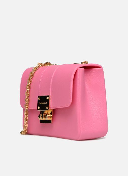 Bolsos de mano Designinverso AMALFI Fuscia Rosa vista del modelo