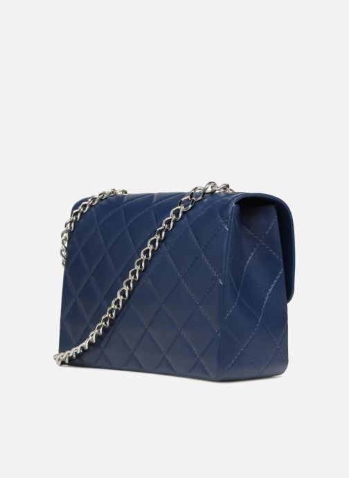Handtaschen Designinverso Milano Blu blau ansicht von rechts