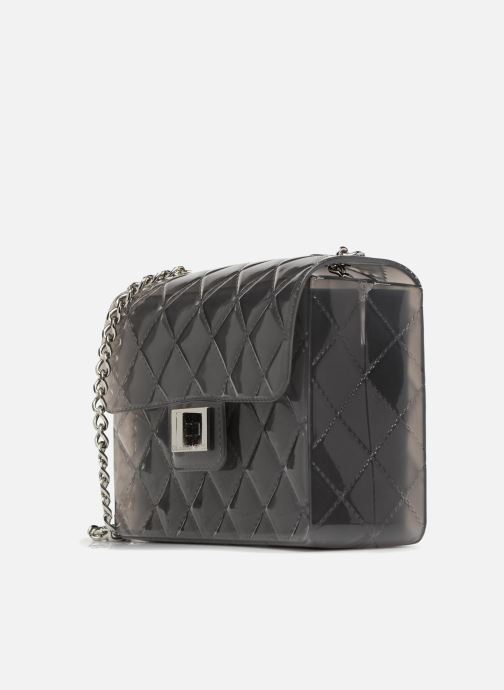 Handtaschen Designinverso Taormina Fumo grau schuhe getragen