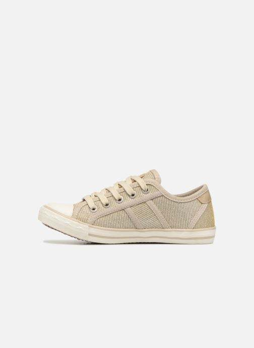 Baskets Mustang shoes 5803308/480 Champagne Or et bronze vue face