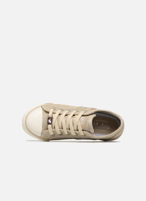 Baskets Mustang shoes 5803308/480 Champagne Or et bronze vue gauche