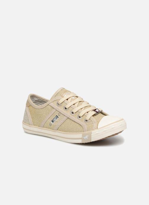 Baskets Mustang shoes 5803308/480 Champagne Or et bronze vue détail/paire