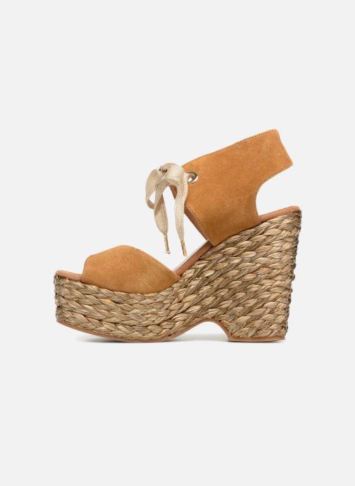 Sandales et nu-pieds Kanna KV7514 Marron vue face