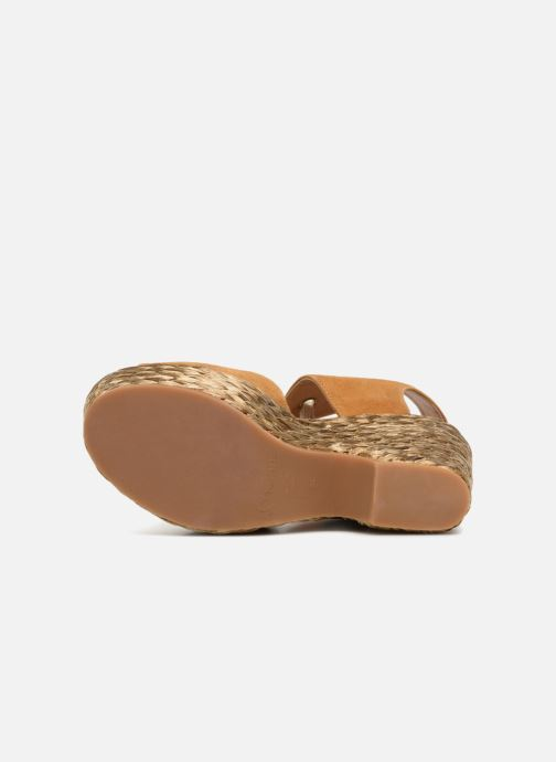 Sandales et nu-pieds Kanna KV7514 Marron vue haut