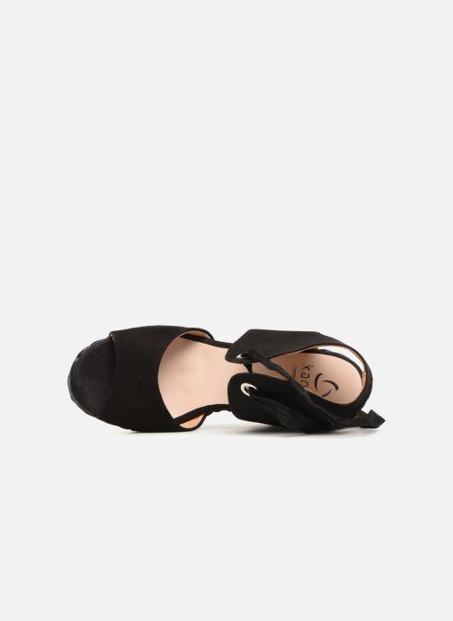 Sandales et nu-pieds Kanna KV7514 Noir vue gauche