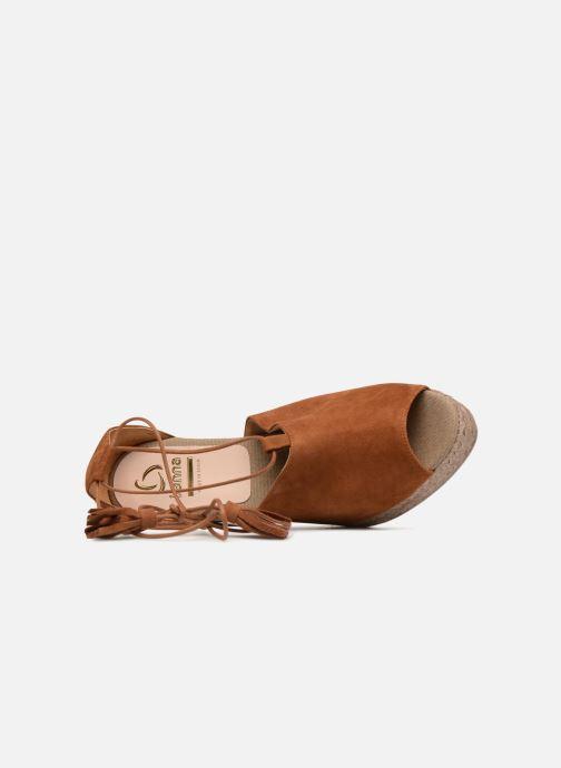 Sandales et nu-pieds Kanna KV7141 Marron vue gauche