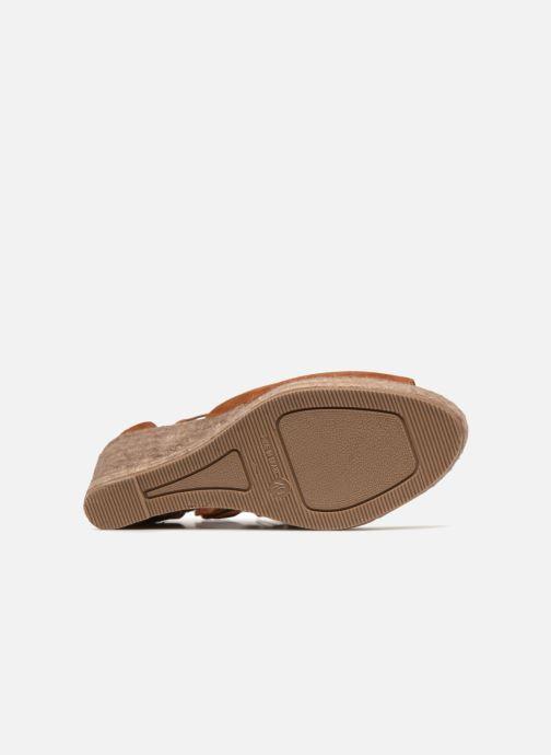 Sandales et nu-pieds Kanna KV7141 Marron vue haut