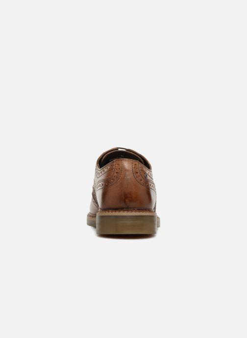 Zapatos con cordones Base London ROTHKO Marrón vista lateral derecha