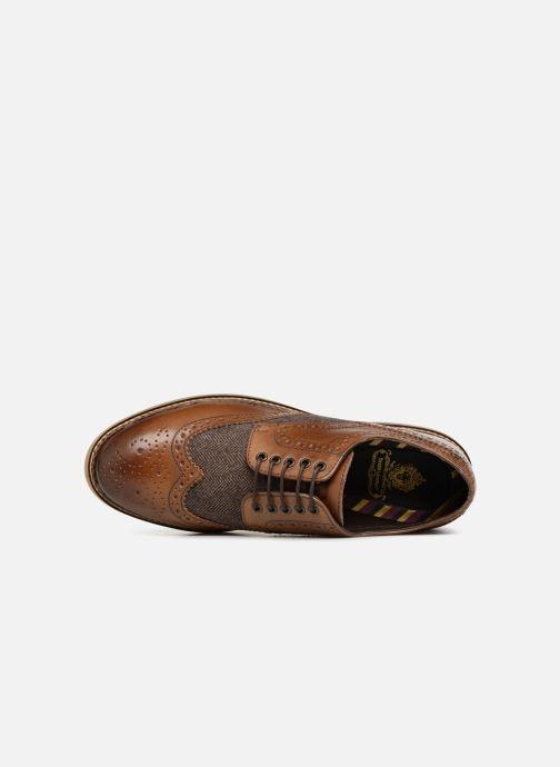Zapatos con cordones Base London ROTHKO Marrón vista lateral izquierda