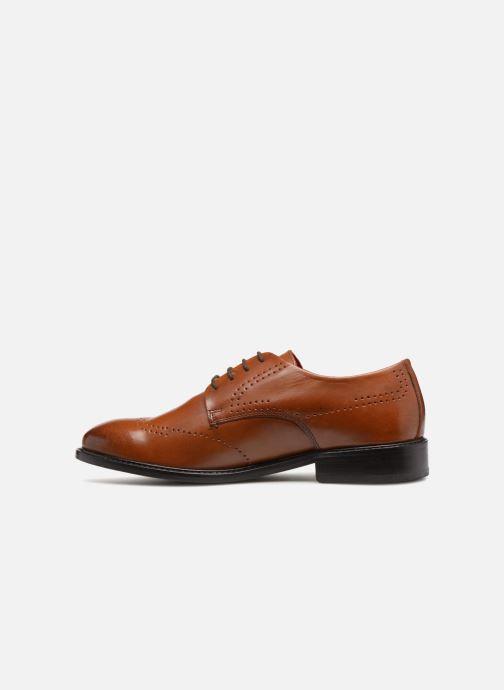 Chaussures à lacets Base London REGENT Marron vue face