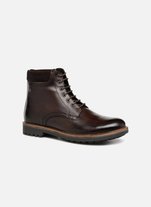 Boots en enkellaarsjes Base London ELK Bruin detail