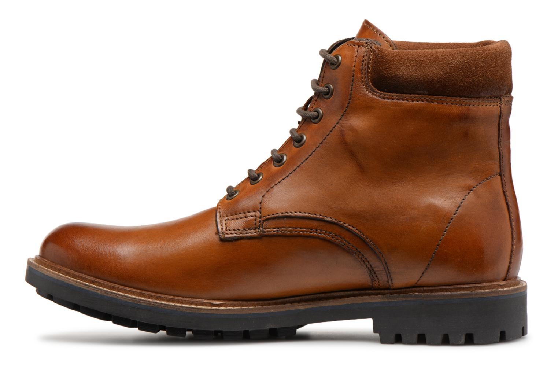 Bottines et boots Base London ELK Marron vue face
