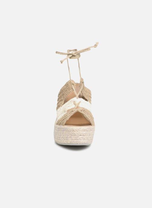 Espadrilles Manebi Rio de Janeiro Beige vue portées chaussures
