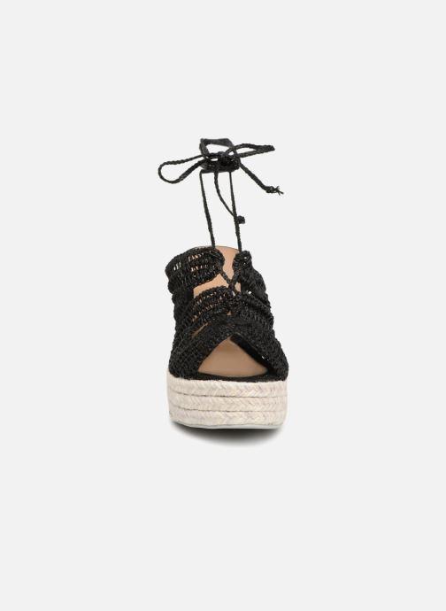 Espadrilles Manebi Rio de Janeiro Noir vue portées chaussures