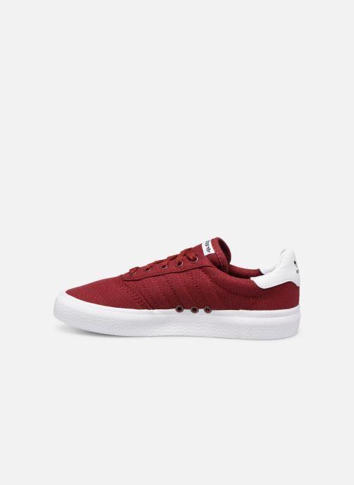 Sneakers adidas originals 3MC J Vinröd bild från framsidan