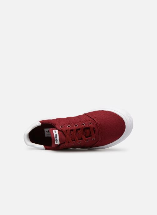 Baskets adidas originals 3MC J Bordeaux vue gauche