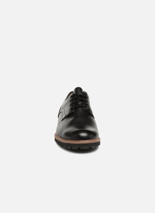 Schnürschuhe Clarks Batcombe Hall schwarz schuhe getragen