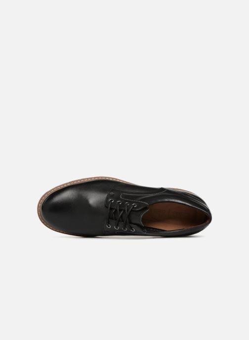 Lace-up shoes Clarks Batcombe Hall Black view from the left
